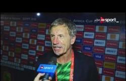 لقاء مع المدير الفني ولاعب لجنوب أفريقيا عقب الفوز على منتخب مصر وتأهله لدور الـ 8 أمم أفريقيا