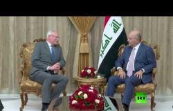 شاهد.. الرئيس العراقي برهم صالح يستقبل المبعوث الأمريكي الى سوريا جيمس جيفري