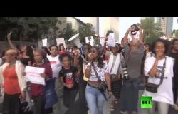 المهاجرون الإثيوبيون يتظاهرون مجددا في إسرائيل ضد العنصرية الإسرائيلية