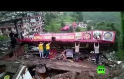 انهيار مبنى جراء الأمطار الغزيرة في الهند