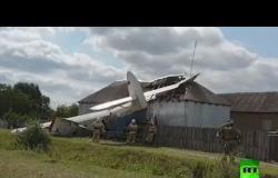 سقوط طائرة خفيفة على منزل في جمهورية الشيشان الروسية