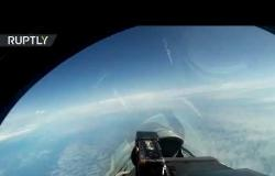 تحليق قاذفتين استراتيجيتين روسيتين من طراز تو 160 فوق بحر البلطيق