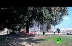 لحظة تحطم طائرة بولاية تكساس الأمريكية أودى بحياة 10 أشخاص