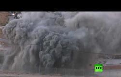 لحظة تفجير الجيش الإسرائيلي لمنزل في القدس
