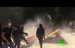 اشتباكات عنيفة بين الشرطة والمحتجين في مدينة نانت
