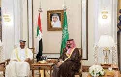 ولي العهد السعودي يلتقي محمد بن زايد