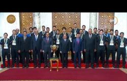 الرئيس السيسي يستقبل ويكرم لاعبي وأعضاء الجهاز الفني للمنتخب الوطني لكرة اليد للناشئين