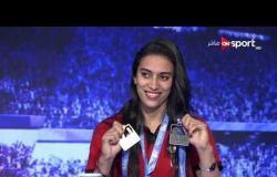 نانسي طمان و فرح حسين تستعرضان الميداليات التي حققاها بدورة الألعاب الإفريقية