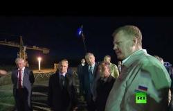 """شاهد.. الرئيس بوتين يتفقد أعمال بناء مجمع إطلاق صواريخ """"أنغارا"""" في مطار فوستوتشني الفضائي"""