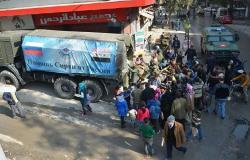 القوات الروسية تقدم قرابة طنين من المساعدات الإنسانية إلى محافظة درعا السورية