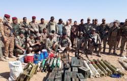 """القوات العراقية تدمر مخازن أسلحة لـ""""داعش"""" في الحدود... صور"""