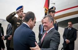 الملك عبدالله يصل إلى القاهرة