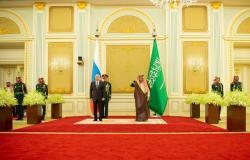 صور.. استقبال خادم الحرمين وولي العهد السعودي للرئيس الروسي