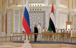 بوتين يشيد بمدينة أبوظبي وسرب من المقاتلات الإماراتية يزين سماء المدينة بالعلم الروسي...فيديو