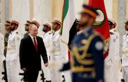 ناطحات السحاب في الإمارات تضيء بصورة بوتين والعلم الروسي...فيديو وصور