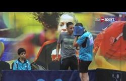 المباراة الاولي بين منتخب مصر H ضد المنتخب المشترك السعودية وبولاندا في بطولة مصر للناشيئن في التنس
