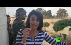 الجيش السوري على الحدود السورية التركية بعين العرب