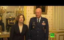 شاهد.. وزيرة الدفاع الفرنسية تستقبل قائد القوات الفضائية الأمريكية