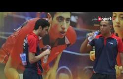 مباراة قبل النهائي لزوجي الناشئين تحت 18 سنة - مروان وأحمد ضد عمر إيهاب وعمرو محفوظ