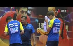 مباراة قبل النهائي لزوجي الناشئين تحت 15 سنة - أوكرانيا ضد إنجلترا - بطولة مصر الدولية لتنس الطاولة