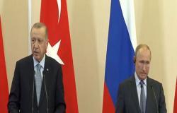 بالفيديو : بوتين وأردوغان يتفقان على نشر الشرطة العسكرية الروسية شمال شرق سوريا
