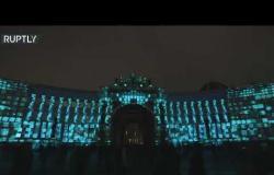 """""""معجزة الضوء"""" في ساحة القصر بسان بطرسبورغ الروسية"""