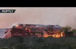 اليابان.. حريق يدمر قلعة شوري إحدى مواقع التراث العالمي