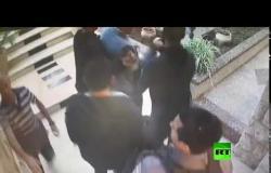 لحظة اعتقال  وزير شؤون القدس فادي الهدمي من قبل القوات الإسرائيلية