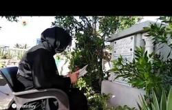 بوسي شلبي تحيي ذكرى رحيل محمود عبد العزيز في مدفنه بالإسكندرية