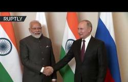 الرئيس بوتين يلتقي رئيس وزراء الهند في البرازيل