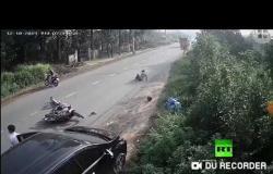 لا مبالة سائق تتسبب بحادث خطير