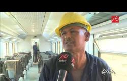 وزير النقل كامل الوزير يتفقد عدداً من ورش السكك الحديدية