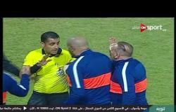 حكم مباراة سموحة وأسوان يطرد إبراهيم حسن عقب مشادة بينهم على أرض الملعب