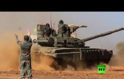 """الدبابات الروسية تشارك في مناورات """"لاروس-2019""""."""