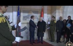شاهد.. الرئيس الفلسطيني عباس يستقبل نظيره الفرنسي ماكرون في رام اللة