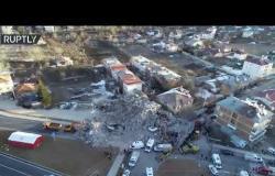 طائرة مسيرة ترصد الدمار الذي خلفه زلزال تركيا