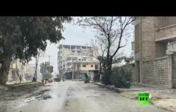 دوريات الجيش الروسي في شوارع معرة النعمان