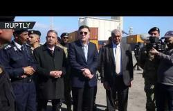 السراج يزور ميناء طرابلس بعد قصفه