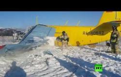 هبوط قاس لطائرة خاصة في ماغادان الروسية