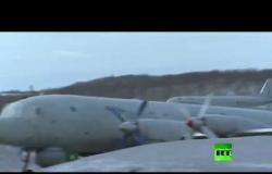 """تحليق طائرات """"إيل-38"""" المضادة للغواصات  فوق بحر بارنتس"""
