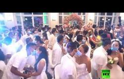 """زفاف جماعي في """"زمن الكورونا"""""""