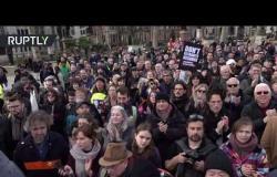 """مظاهرة في لندن دعما لمؤسس موقع """"ويكيليكس"""" جوليان أسانج"""