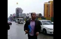 أمطار غزيرة تتسبب في شلل مروري بمدينة نصر والمهندسين