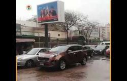 شلل مروري في نطاق المهندسين بسبب الأمطار