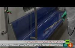 """في مواجهة """"كورونا"""".. تعقيم المرافق العامة والمدارس في طهران"""