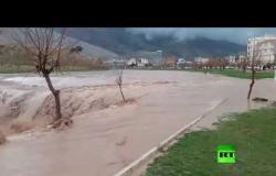 سيول في مدينة خرم آباد غرب إيران