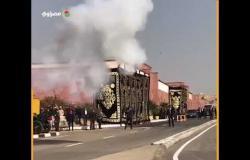 المدفعية تطلق ٢١ طلقة قبل وصول جثمان مبارك لمثواه الأخير