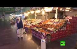 تعقيم محلات تجارية في كوريا الجنوبية