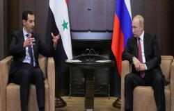الكرملين: بوتين يبحث مع الأسد هاتفيا الوضع في سوريا وسير تطبيق الاتفاق الروسي التركي حول إدلب