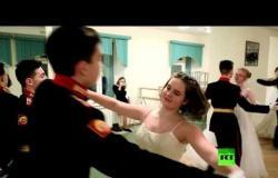 درس الرقص في مدرسة سوفوروف العسكرية..
